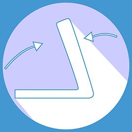 Dimesioni piegata: (L) 57 cm (A) 46 cm (H) 124