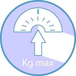 Maximum recommended user weight:  120 KG